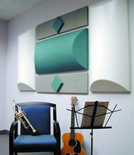 Diffusers, Acoustic Material - All Noise Control diffusers are ideal for wall and ceiling applications in band, choral and music facilities requiring acoustical performance.